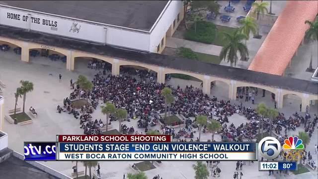 'We Want Change': West Boca High Students March To Protest Gun Violence