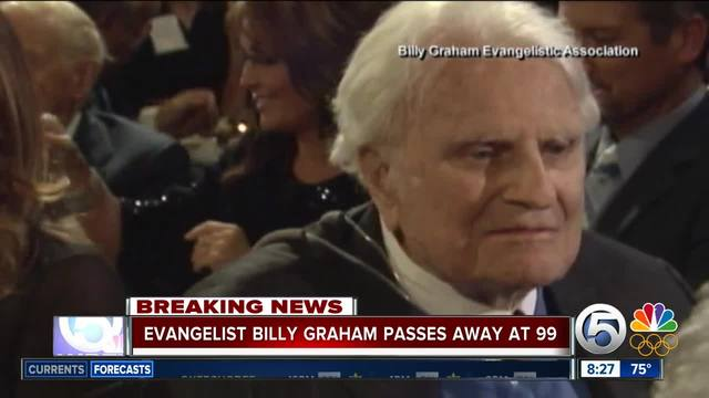 Famed evangelist preacher Billy Graham dies at 99