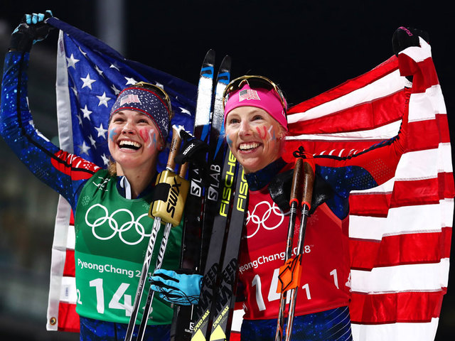 United States  captures first Olympic gold medal in women's cross-country skiing