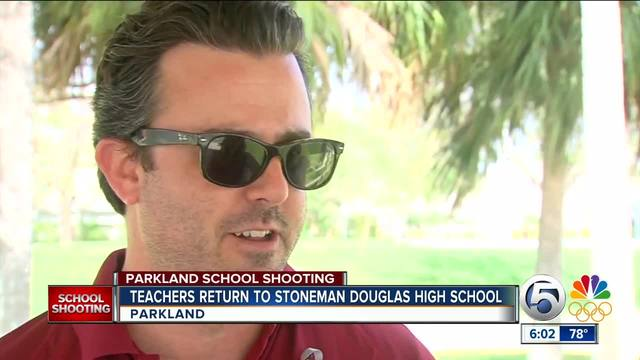 Mixed emotions as teachers return to Marjory Stoneman Douglas High