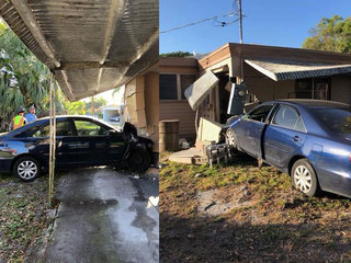Woman crashes into Fort Pierce house