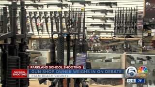 Local gun shop owner and the gun debate