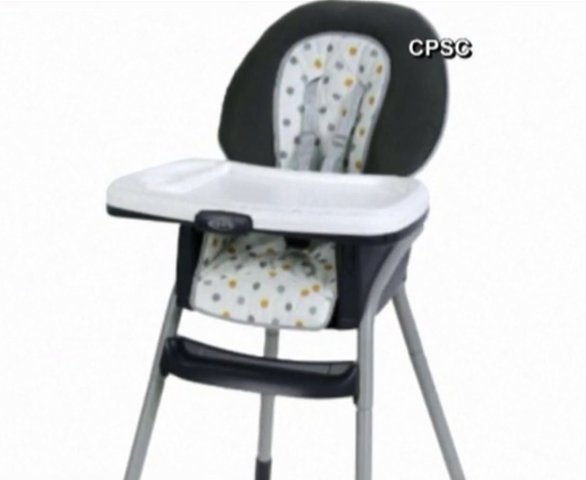 Graco high chairs recalled after kids fall over