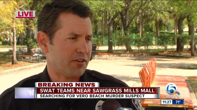 Murder Suspect Tracked To Lot Near Near Sawgrass Mills Mall