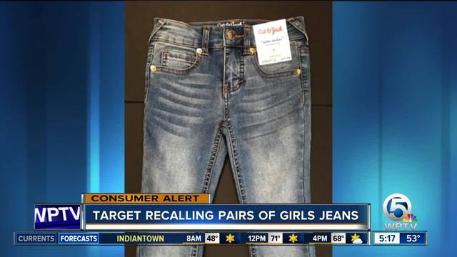 Target recalls girls' studded jeans due to laceration hazard