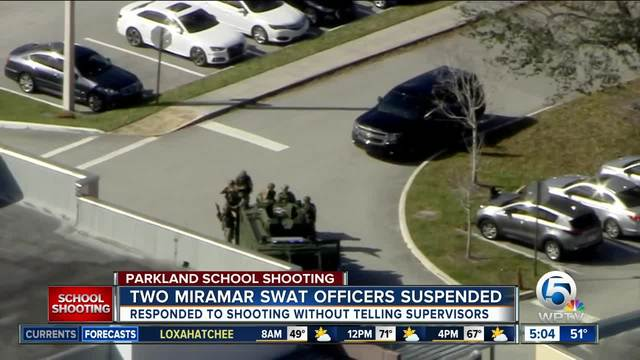 Fla. SWAT Team Members Suspended for Responding to Parkland Shooting