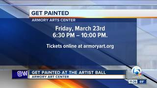 Get painted at the artist ball on March 23