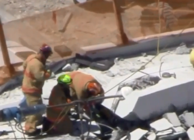Authorities pull 3 bodies from debris of FIU bridge collapse