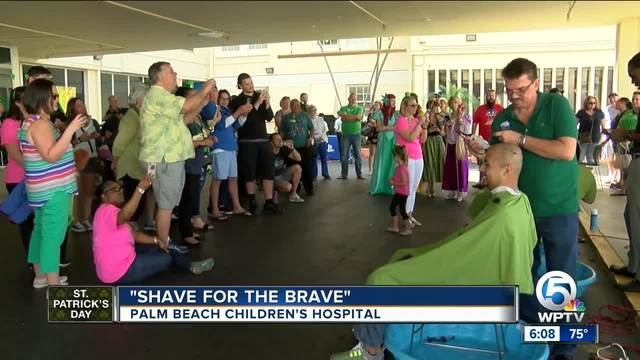 -Shave for the Brave- fundraiser held for St- Baldrick-s
