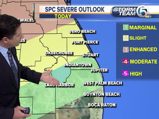 Near record highs, threat for severe t-storms