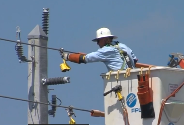 Florida Power And Light Focuses On Strengthening Power Poles In Delray Beach