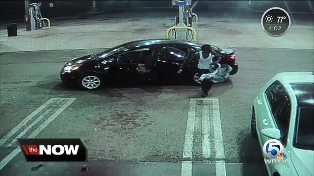 Vehicle thief drops baby at Florida petrol station