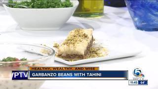 Garbanzo beans with tahini recipe