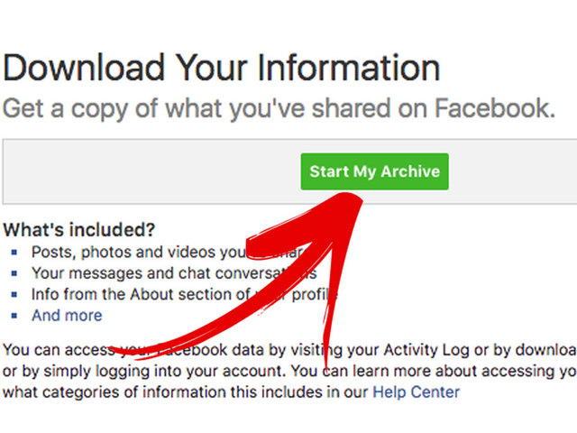 download your data from facebook