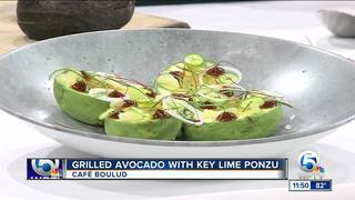 Cafe Boulud's grilled avocado with key lime
