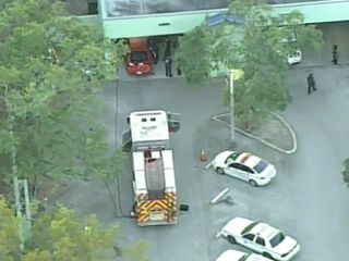 Driver crashes into Miami Police substation