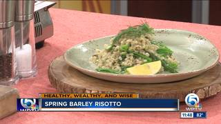 Recipe for spring barley risotto