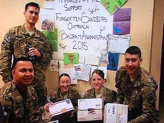 Group to continue sending packages to soldiers