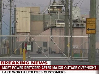 Power restored after major Lake Worth outage