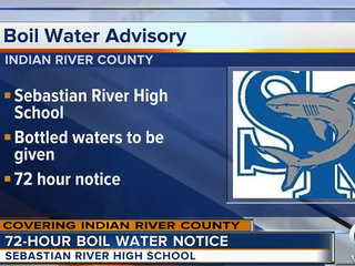 Sebastian River HS under boil water notice