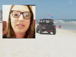 Sunbather hit by car while lying on Fla. beach