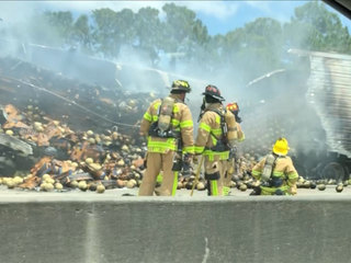 Turnpike reopened after semi truck fire