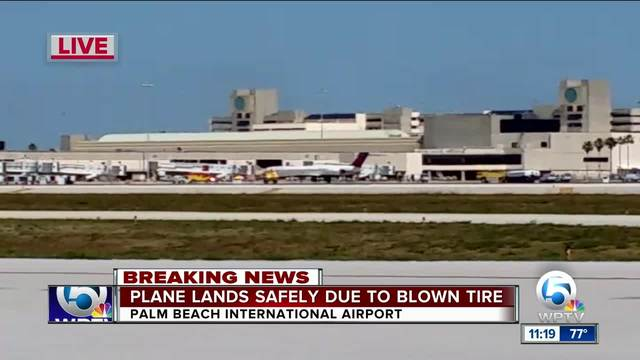 Delta flight with blown tire makes emergency landing in Palm Beach