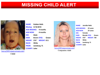 Missing child alert for 4-month-old canceled