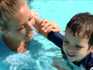 School teaching children with autism how to swim