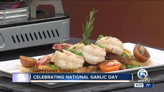 Shrimp scampi for National Garlic Day