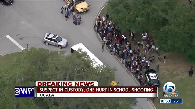 Sheriff: 1 injured, suspect in custody in Florida school shooting