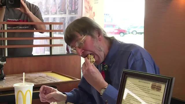 Deeply committed Big Mac fan eats his 30000th burger
