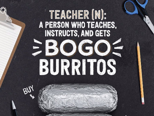 Chipotle Celebrates Teachers With Free Food