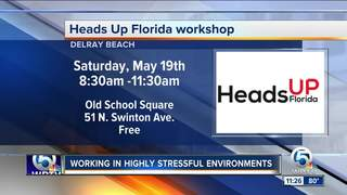Heads Up Florida workshop on May 19