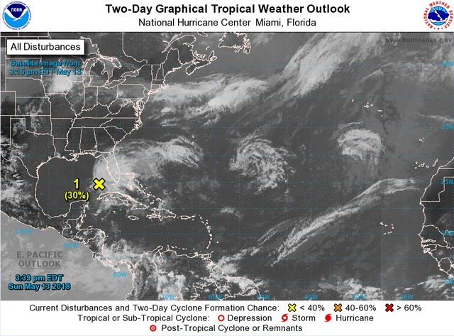 Tropical system developing in the gulf, New Orleans impact not expected