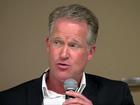 Steve Weagle speaks at hurricane conference