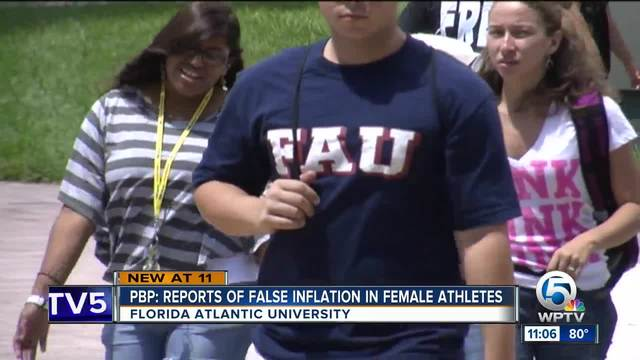 Florida Atlantic University inflated female athlete numbers
