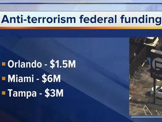 Orlando, Miami, Tampa receive terrorism funds