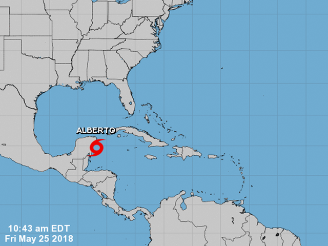 Subtropical Storm Alberto forms in Gulf