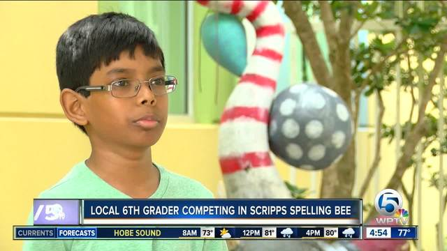 Bak Middle School 6th grader competing in Scripps National Spelling Bee