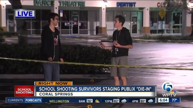 David Hogg plans Publix -die in- protests Friday