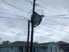 Winds toss trampoline into power lines in Stuart