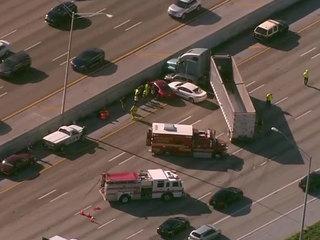 PHOTOS: Semi, 3 other vehicles in I-95 crash