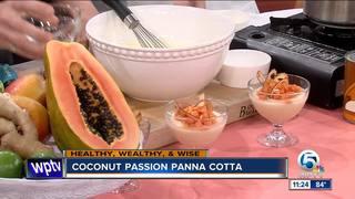 Recipe fo Coconut Passion Panna Cotta