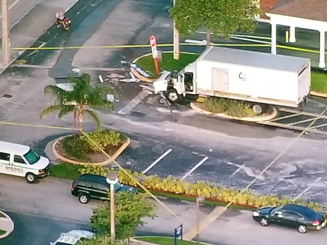 Couple sought after crashing big truck into ATM