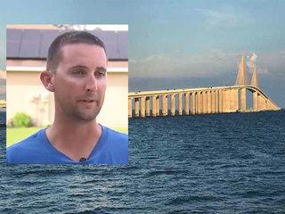 Firefighter tries to save Florida bridge jumper