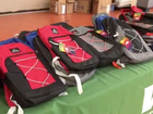 Backpacks given away to students