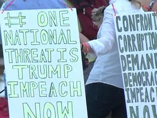 'Confront Corruption' vigil held near Mar-a-Lago