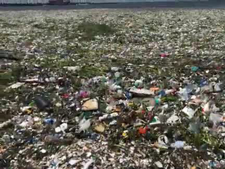 Dominican Republic beach covered in garbage