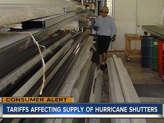 Tariffs affecting supply of hurricane shutters